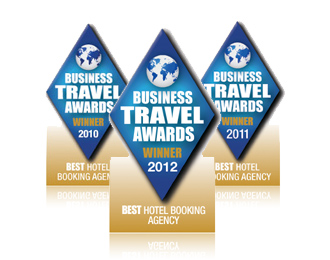 Business Travel Awards - Best Hotel Booking Agency 2010, 2011 and 2012